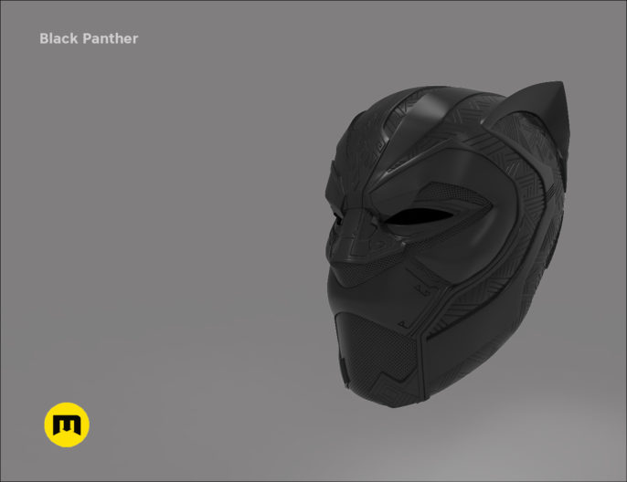 Black Panther stl OBJ print 3D model