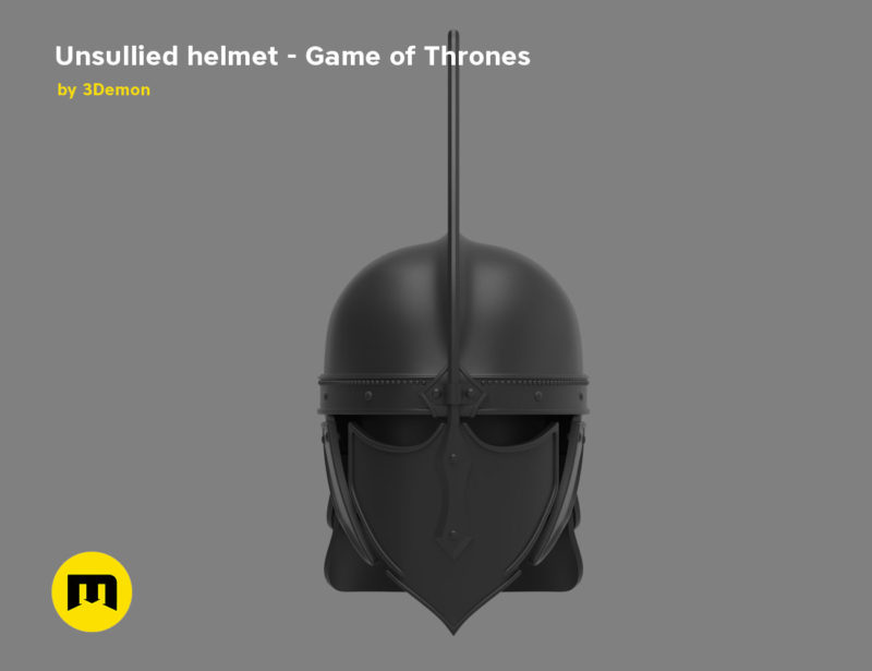 Game of Thrones Unsullied Helmet 3D print modelGame of Thrones Unsullied Helmet 3D print model