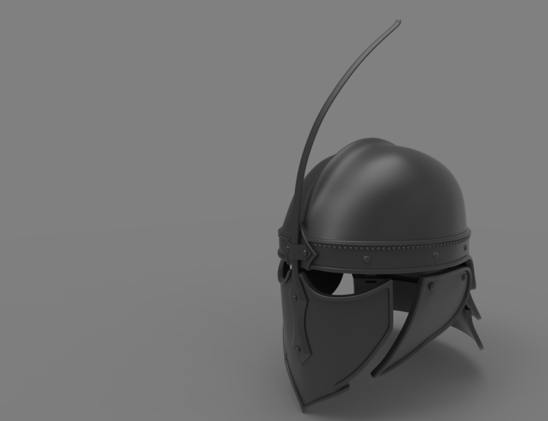 Game of Thrones Unsullied Helmet 3D print model