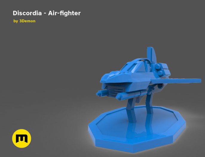 Discordia Cyberpunk board game figures 3D print model