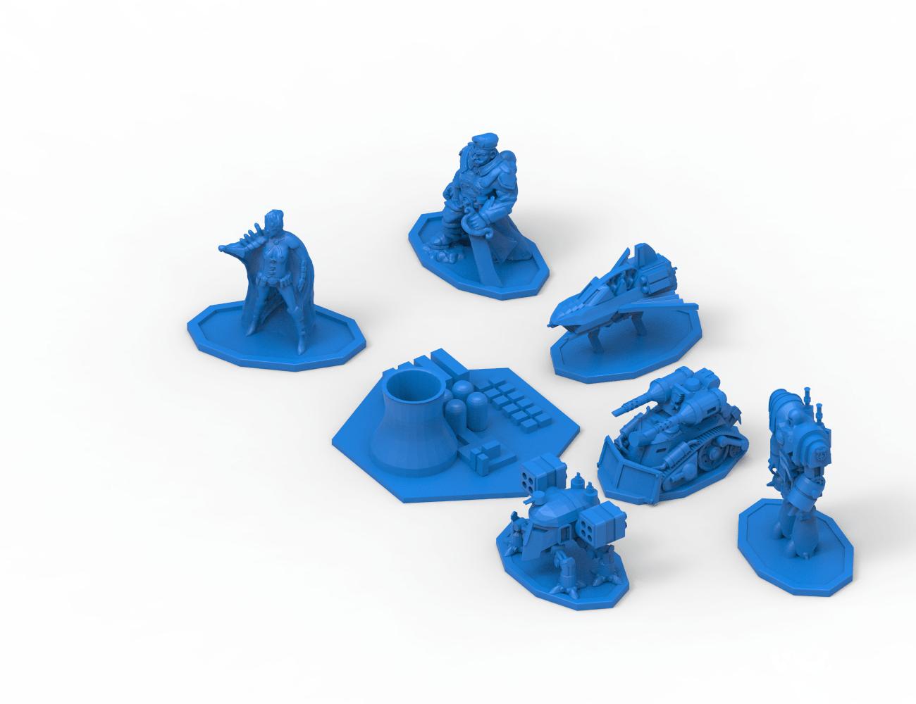 Discordia Cyberpunk board game figures 3D print model