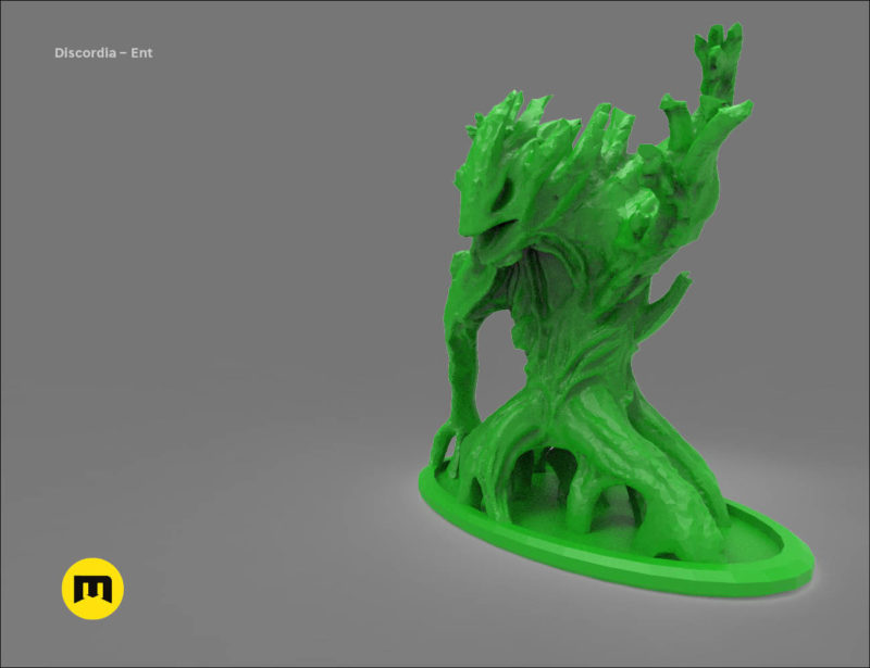 Discordia Forest board game figures 3D print model