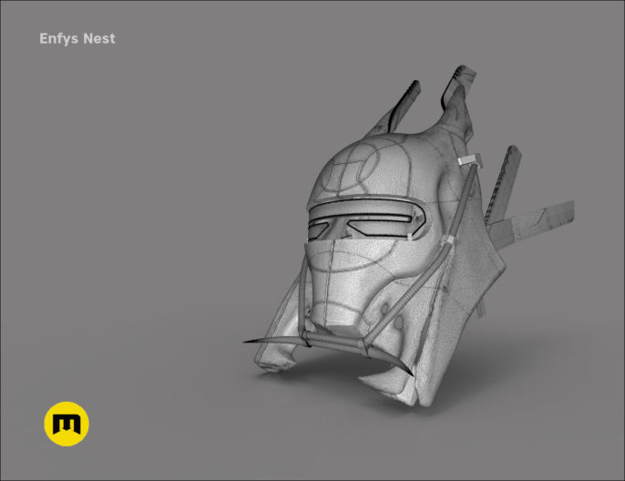 Enfys Nest battle helmet 3D print model