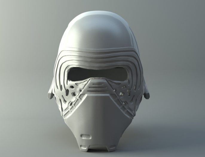 Star Wars Kylo Ren Helmet 3D print model