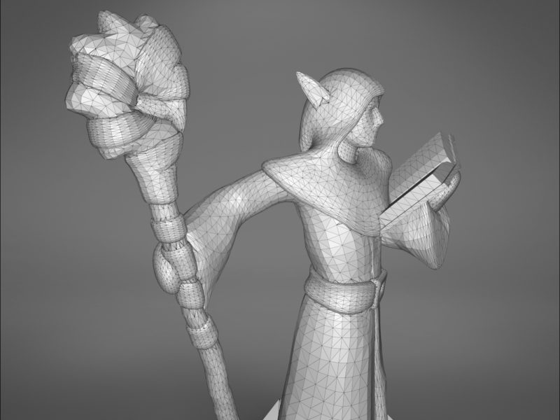 ELF MAGE CHARACTER GAME FIGURES 3D print model