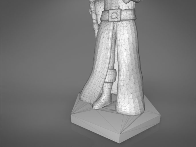 ELF MAGE CHARACTER GAME FIGURES 3D print model