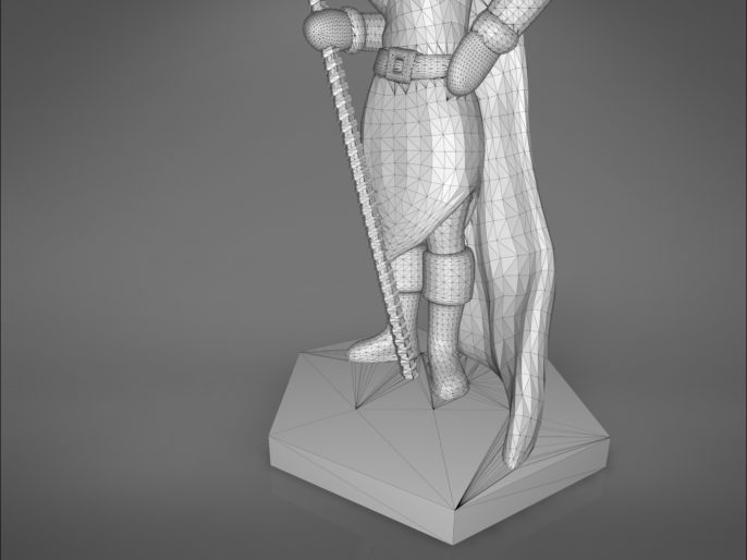 ELF MAGE FEMALE CHARACTER GAME FIGURES 3D print model