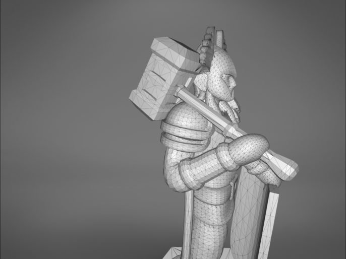 ELF PALADIN CHARACTER GAME FIGURES 3D print model