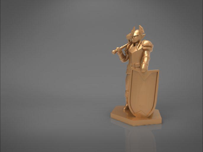 ELF PALADIN CHARACTER GAME FIGURES 3D print model