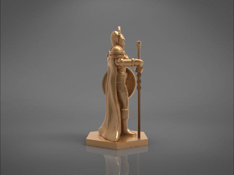 ELF PALADIN FEMALE CHARACTER GAME FIGURES 3D print model