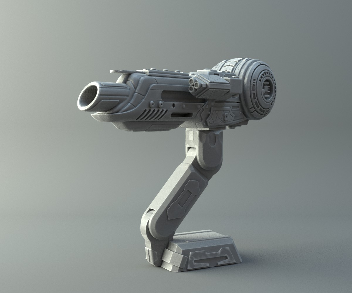 Predator Shoulder Cannon 3D print model