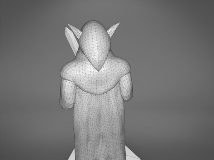 ELF ROGUE CHARACTER GAME FIGURES 3D print model