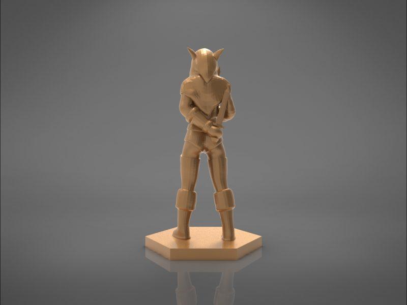 ELF ROGUE FEMALE CHARACTER GAME FIGURES 3D print model