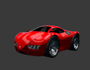 Concept sports car Low-poly 3D model