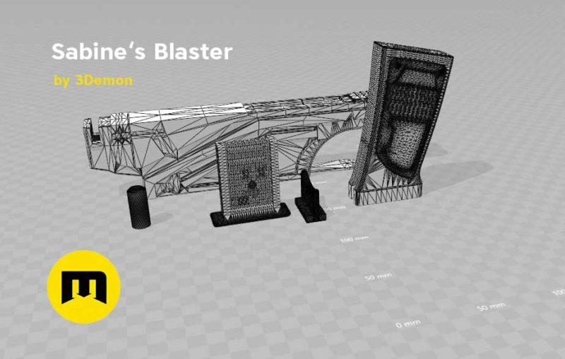 Sabine Wren from Star Wars two Blaster 3D print model 3D print model