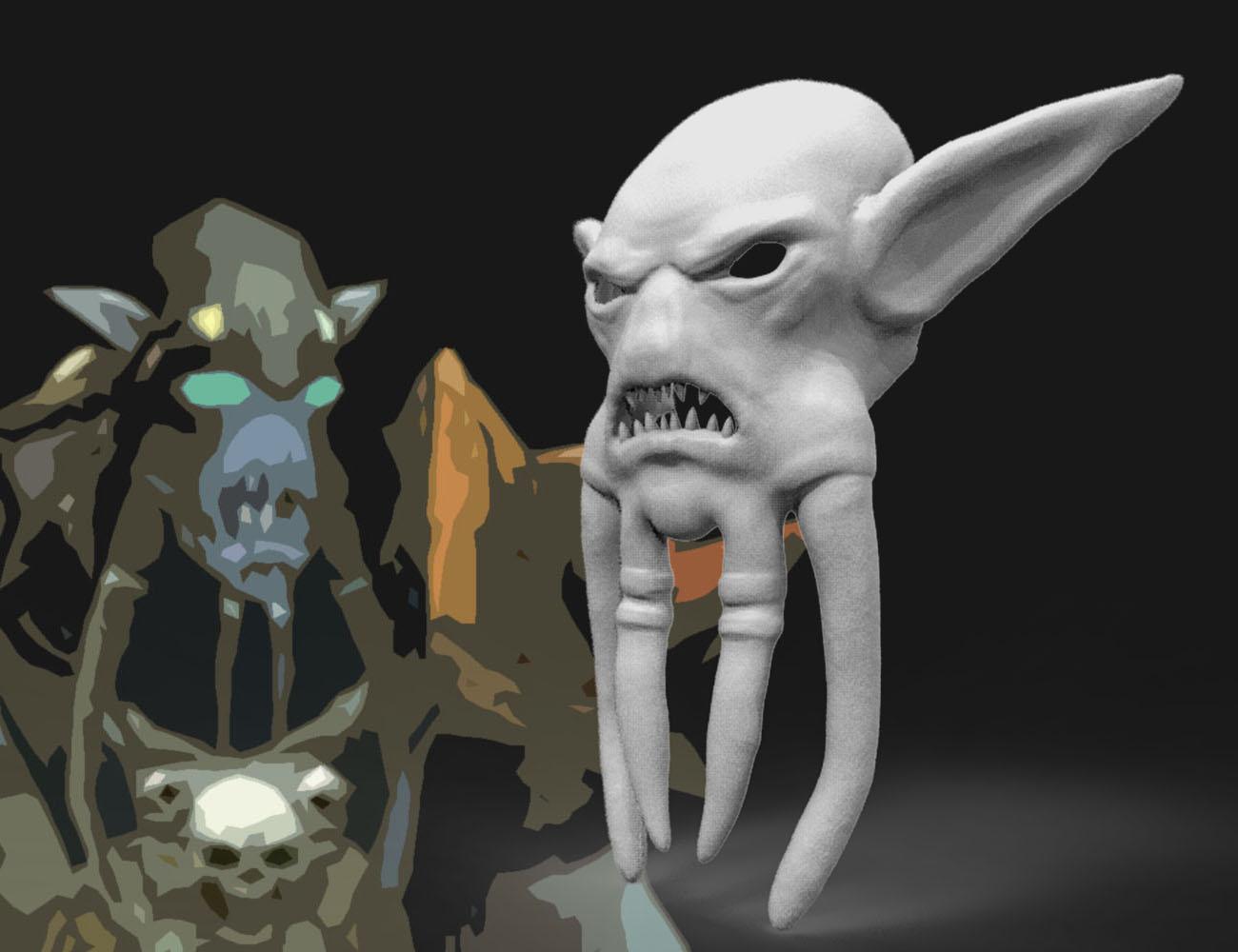Akama mask WoW 3D print model