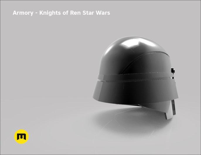 Armory helmet - Knights of Ren - Star Wars universe 3D print model