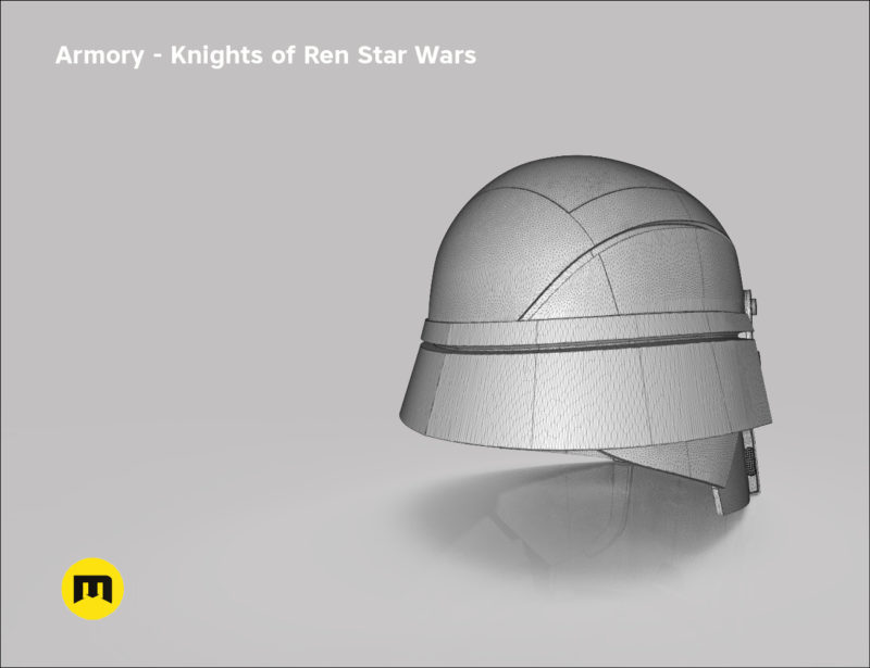 Armory helmet - Knights of Ren - Star Wars universe 3D print model