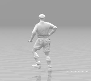 Captain miniature II World War 3D print model