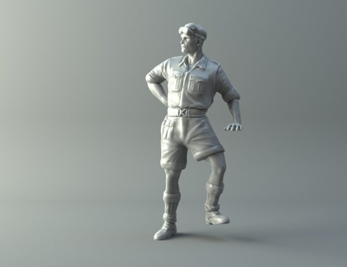 Captain miniature II World War 3D print model