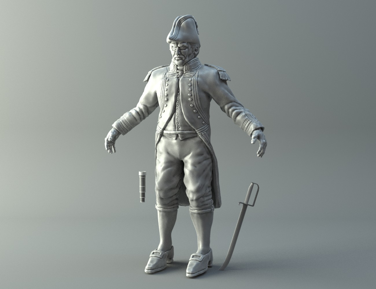 Naval Captain 3D print model