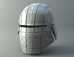 Damaged Rogue helmet - Knights of Ren - Star Wars universe 3D print model