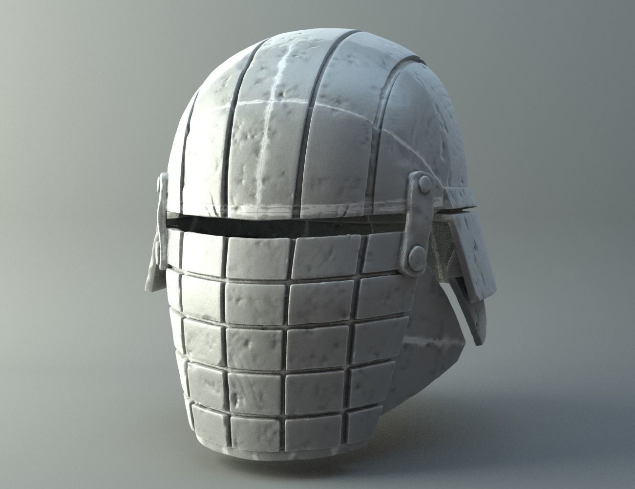 Damaged Rogue helmet - Knights of Ren - Star Wars universe 3D print model