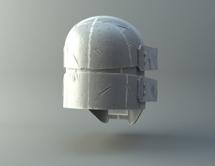 Damaged Sniper helmet - Knights of Ren - Star Wars universe 3D print model