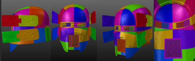 Damaged Sniper helmet - Knights of Ren - Star Wars universe 3D print model
