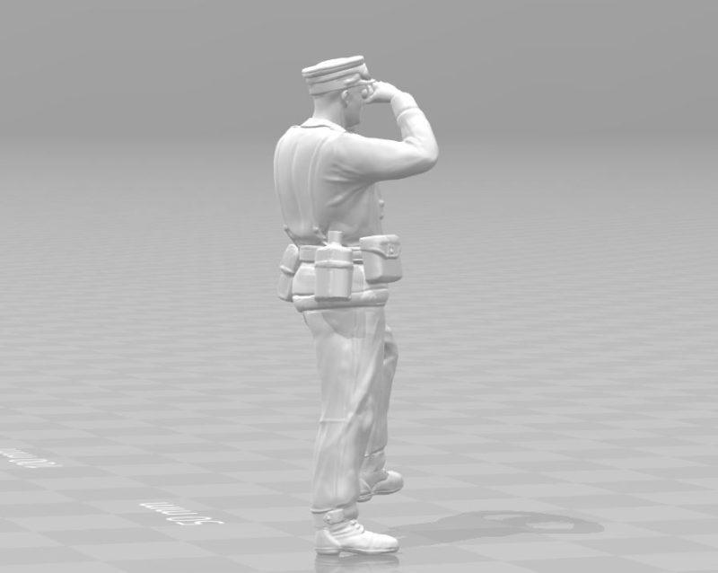 General miniature II World War 3D print model
