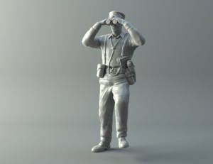 General miniature II World War 3D print model
