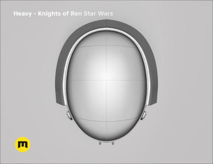 Heavy helmet - Knights of Ren - Star Wars universe Heavy helmet - Knights of Ren - Star Wars universe 3D print model3D print model
