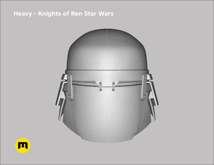 Heavy helmet - Knights of Ren - Star Wars universe 3D print model