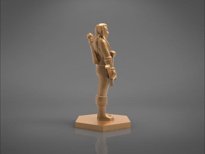 ELF RANGER CHARACTER GAME FIGURES 3D print model