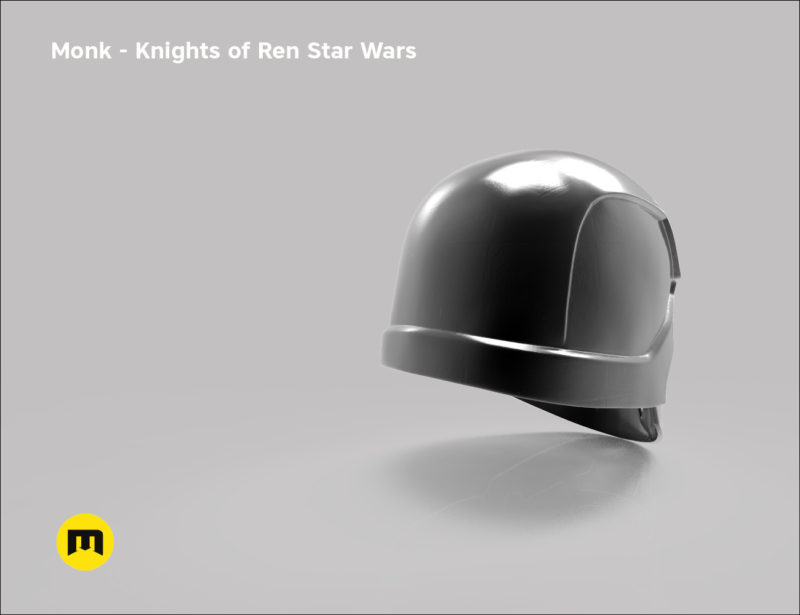 Monk helmet - Non-dmg - Knights of Ren - Star Wars universe 3D print model