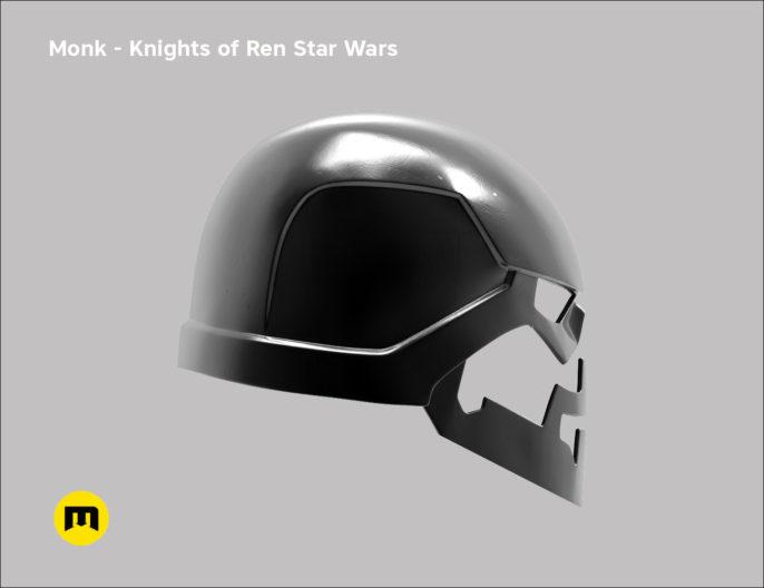 Monk helmet - Non-dmg - Knights of Ren - Star Wars universe 3D print model
