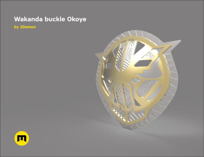 Wakanda Okoye buckle 3D print model