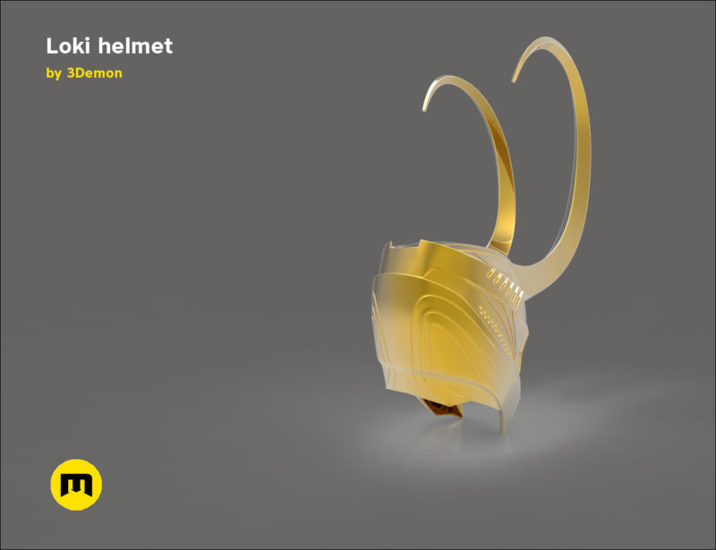 Loki helmet 3D print model