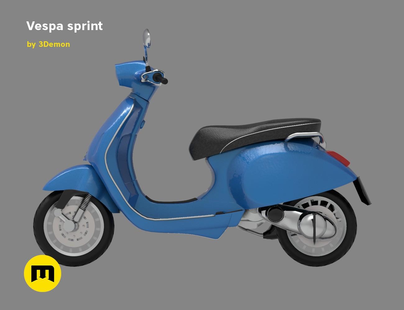 Download Sketsa Gambar Vespa Sprint New Sketsa Gambar