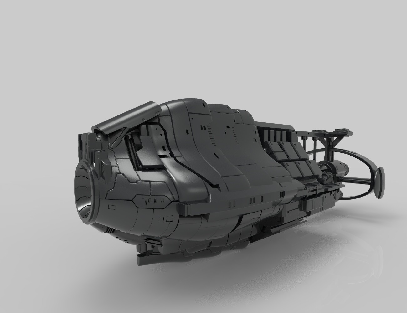 Fantasy Spaceship 3D print model