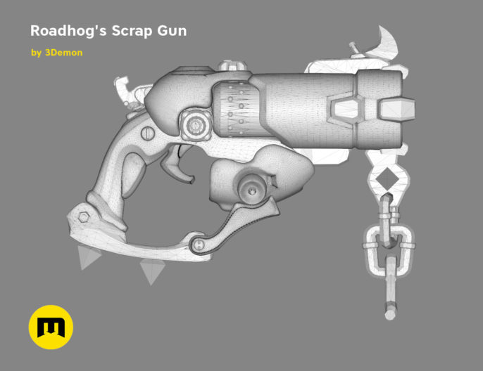 Roadhog scrap gun - Overwatch game 3D print model