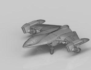 Fantasy Space Jet 3D print model
