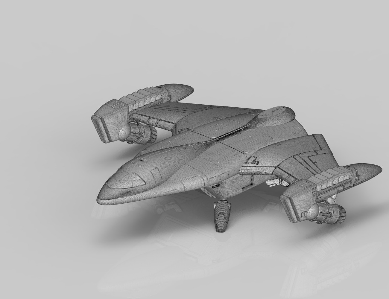 Fantasy Space Jet 3D print model