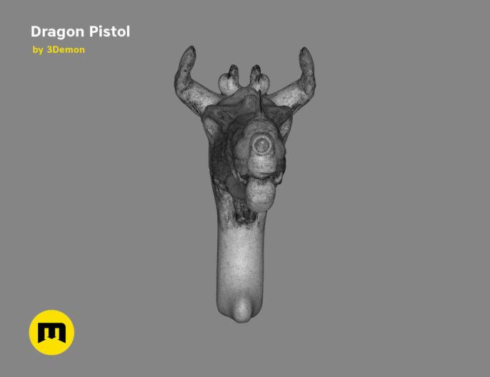 Fantasy DragoFantasy Dragon Pistol 3D print modeln Pistol 3D print model