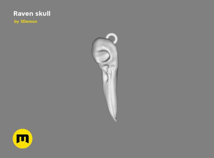 Raven Skull 3D print model