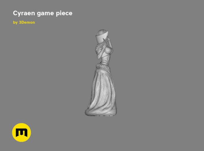 Cyraen figure 3D print model