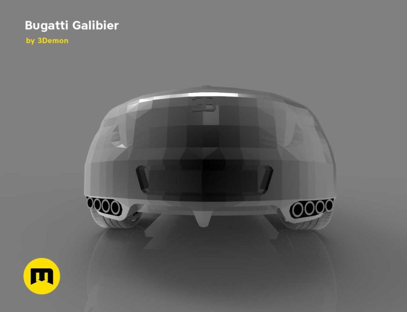 A four-seat concept car - Bugatti Galibier 3D print modelA four-seat concept car - Bugatti Galibier 3D print model