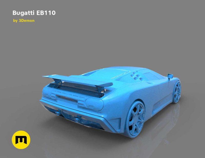 The mid-engine sport car - Bugatti EB110 3D print model