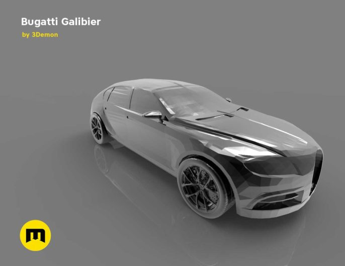 A four-seat concept car - Bugatti Galibier 3D print model