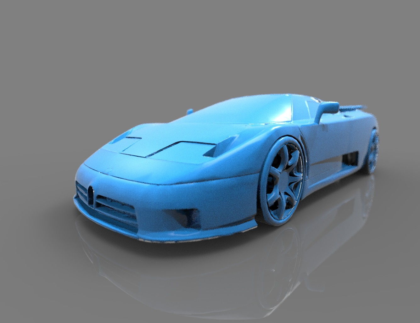 The mid-engine sport car - Bugatti EB110 3D print model